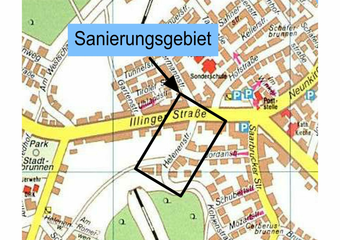 Lageplan Helenenstrasse