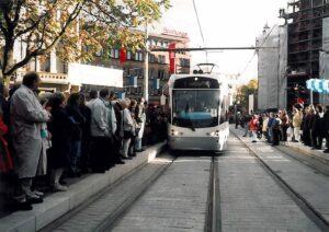 Jungfernfahrt der Saarbahn, Oktober 1997