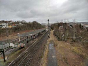 Blick von der Gleisbrücke