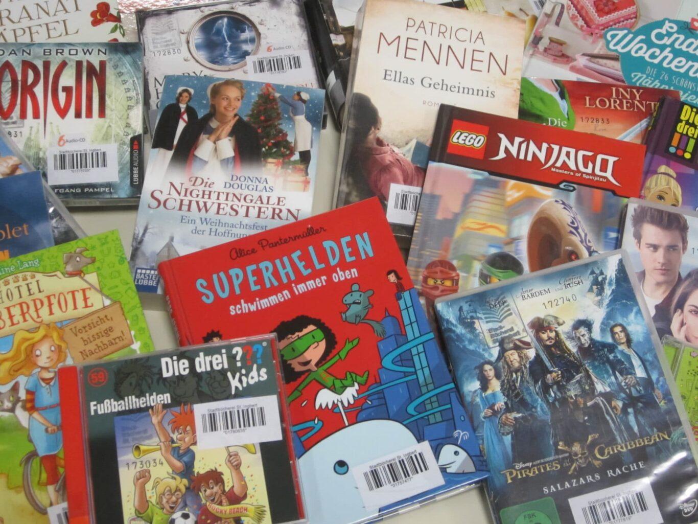Auswahl in der Bücherei St. Ingbert