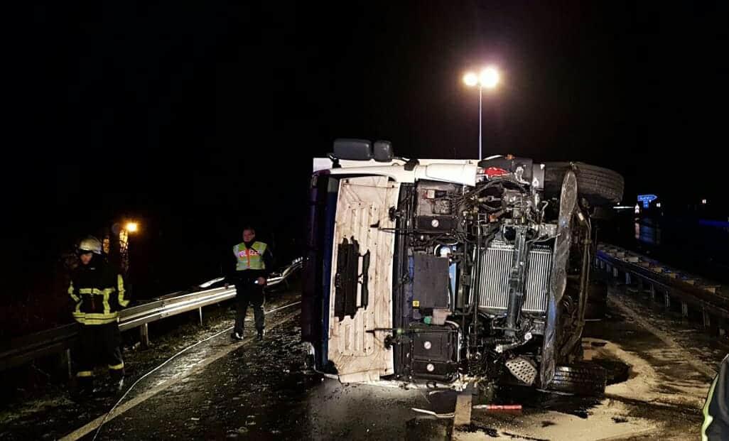 Unfall A623 LKW