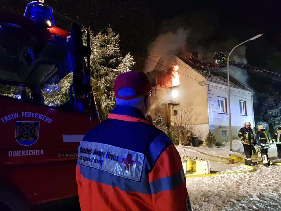 Brand Einfamilienhaus Göttelborn, BIld: DRK LV Saarland Pressestelle