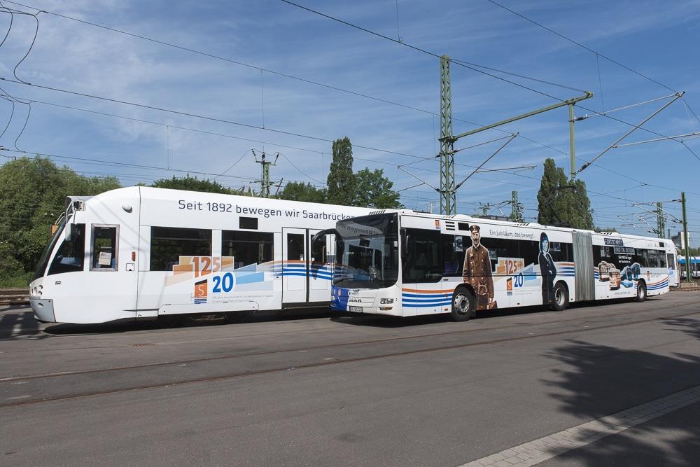 Saarbahn und Bus