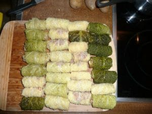 Kohlrouladen mit Salzkartoffeln