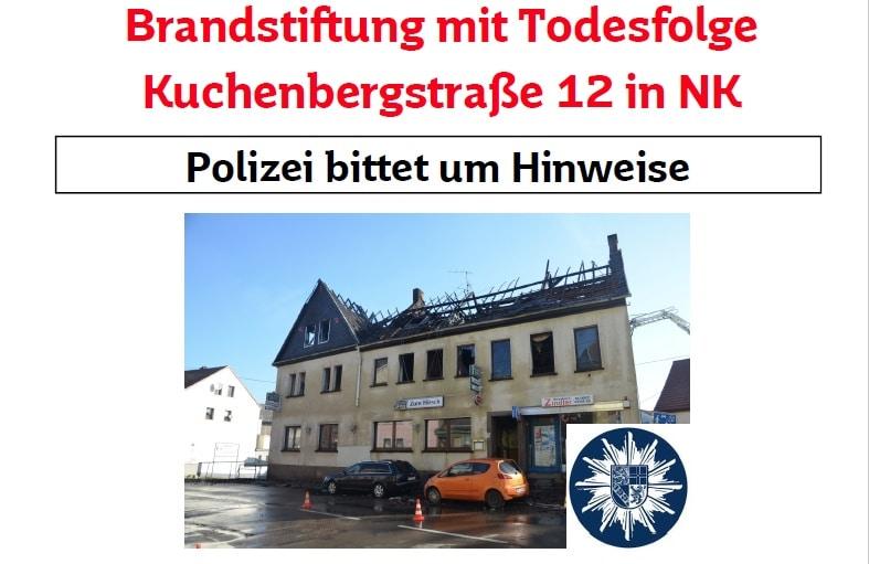 Nach Brandstiftung in Wiebelskirchen: Zeugen gesucht - 15.000 Euro Belohnung