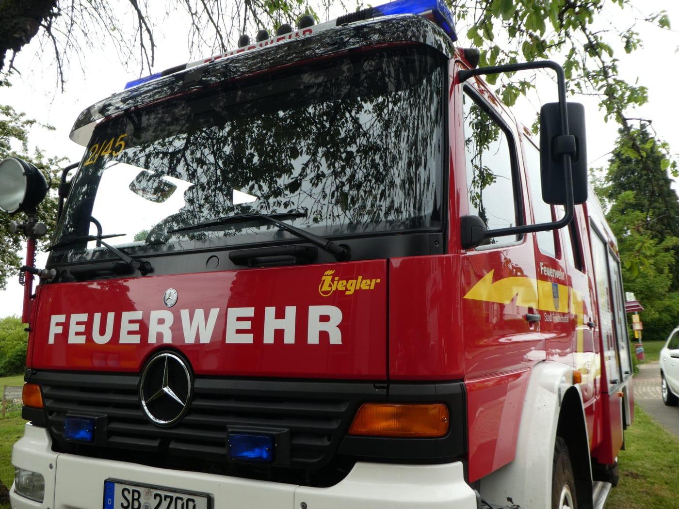 Homburg: Zimmerbrand! 2 Verletzte!