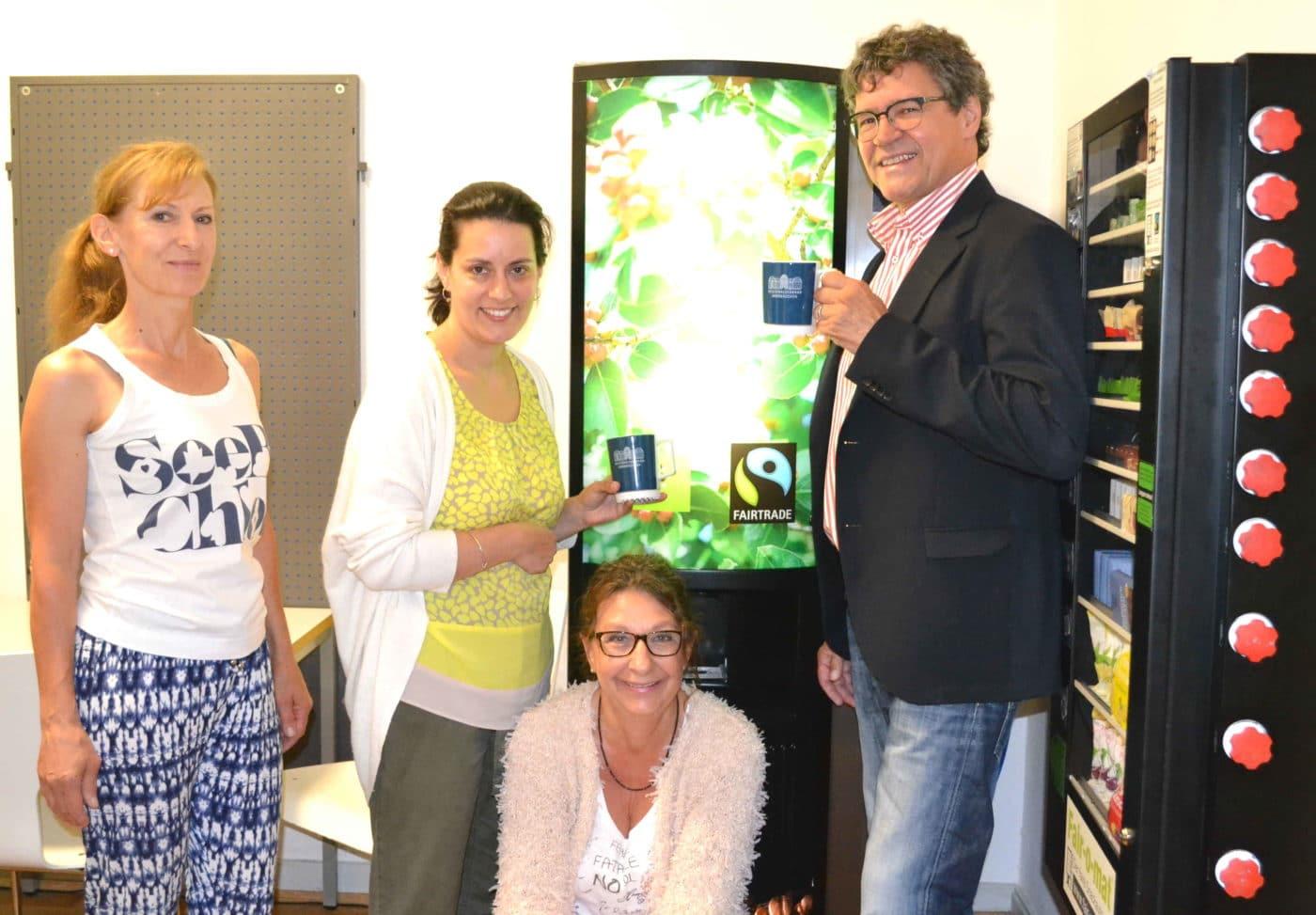 Drei faire Kaffeeautomaten in Regionalverbands-Gebäuden