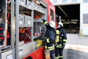 Die Einsatzkräfte während der Großübung, Bild: Saarstahl