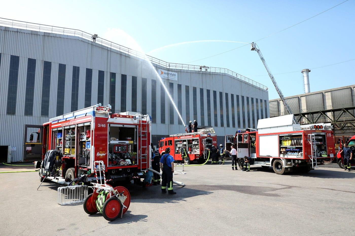 150 Einsatzkräfte bei Katastrophenschutzübung in Neunkirchen beteiligt
