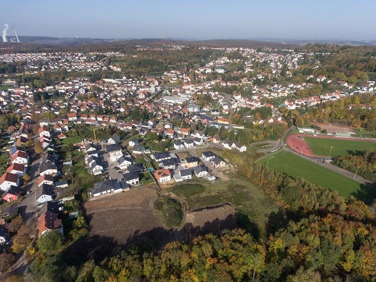 Blick auf Baugebiet Geißwies