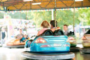 The bumper car is always a highlight at the fun fair