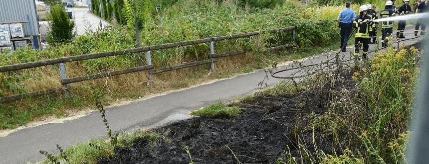 St. Ingbert: Feuerwehr löscht Wiesenbrand zwischen Kaufland und DNA