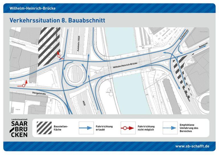 Visualisierung Wilhelm-Heinrich-Brücke | Bild: Landeshauptstadt Saarbrücken