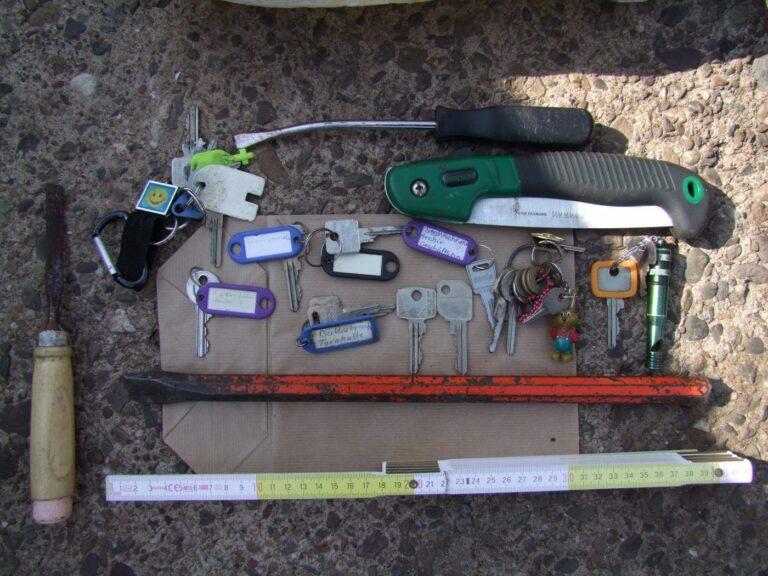 Der Täter entwendete auch Schlüssel am Tatort
