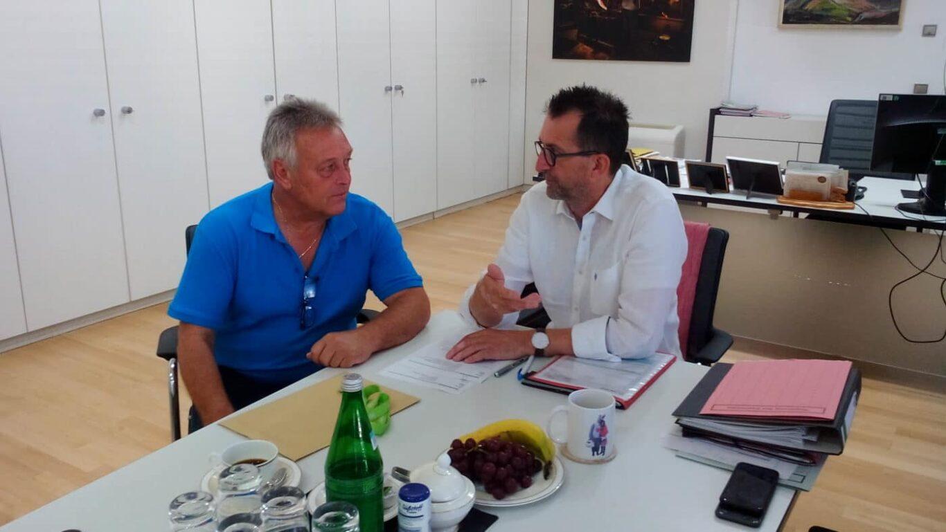 Günter Hofmann bei Reinhold Jost | Bild: Günter Hofmann