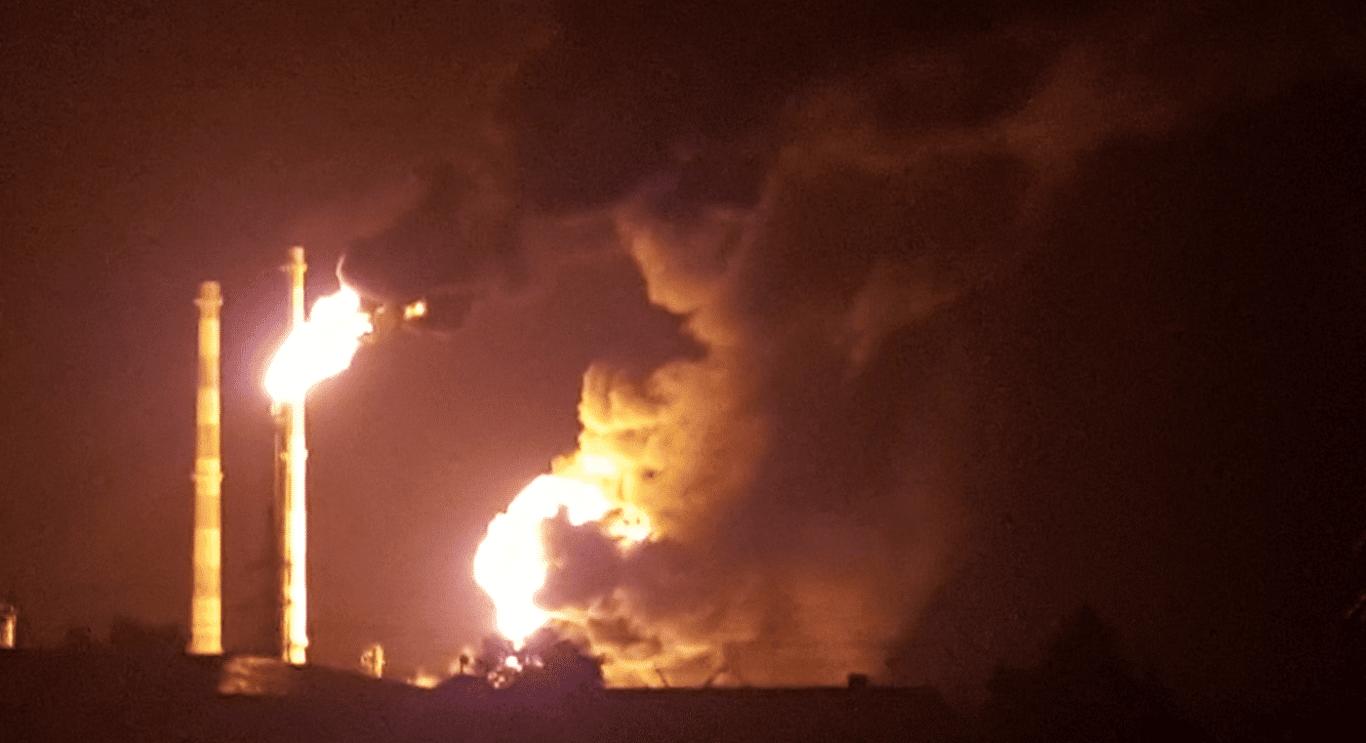 Großbrand in der Bayernoil-Raffinerie, Bild: ILectron