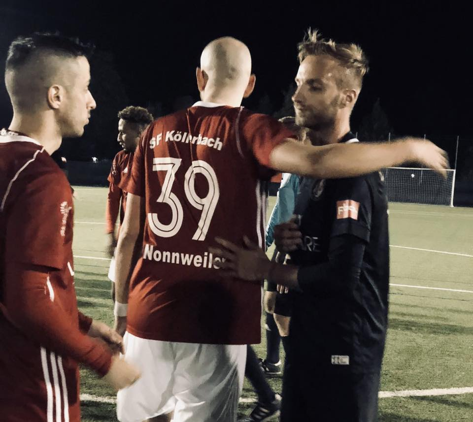 Nach dem Spiel Köllerbach - SV Elversberg | Bild: SV Elversberg