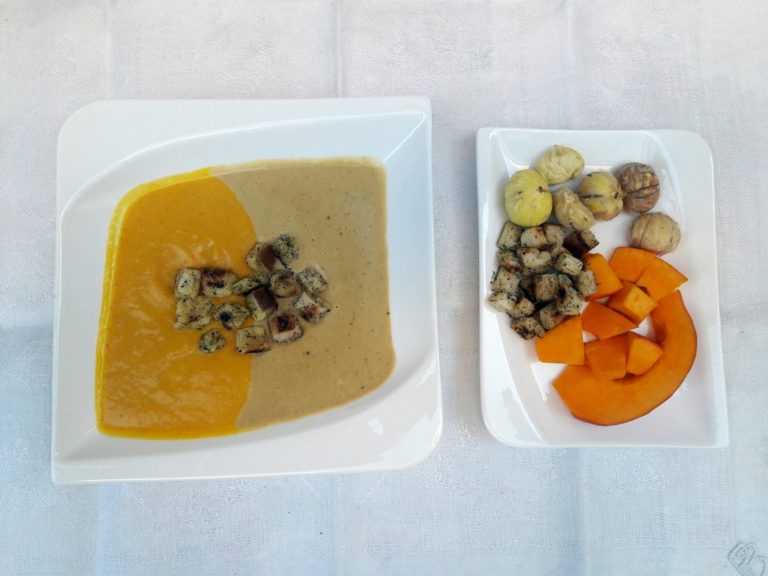 Pumpkin & chestnut soup