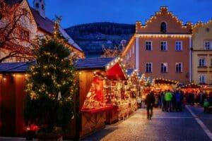 Un mercado navideño