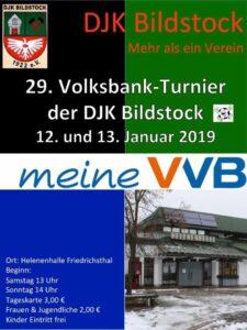 Plakat Hallenmasters 2019 - DJK BIldstock