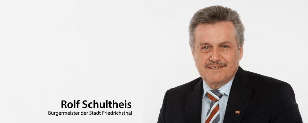 Rolf Schultheis, Bürgermeister der Stadt Friedrichsthal