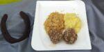 Sauerkraut mit Sarmerknödel und Kartoffelbrei   Bild: F.M.