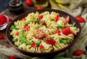 A delicious pasta salad, fresh and fine!