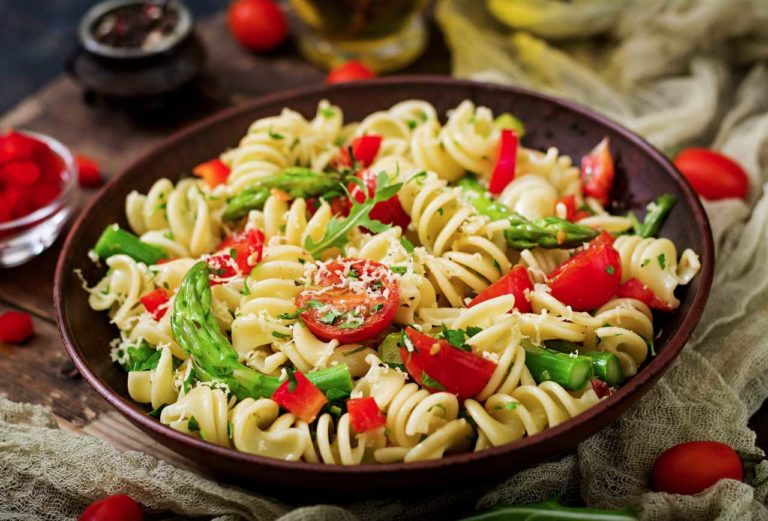 A delicious pasta salad, fresh and fine!