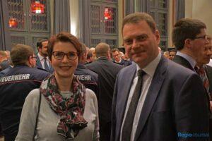 Heike Kneller-Luck (Kulturamt) und Bürgermeister Adam