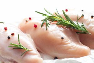 Raw chicken often contaminated with diarrhea!