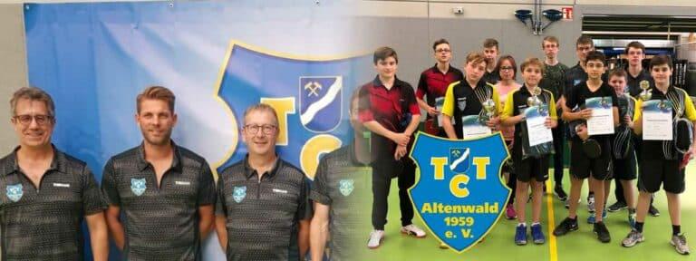 Links: Die Aktiven, rechts: die Jugend des TTC Altenwald | Bild: TTC Altenwald