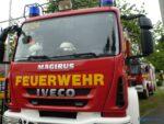 Ein Löschfahrzeug der Feuerwehr Friedrichsthal