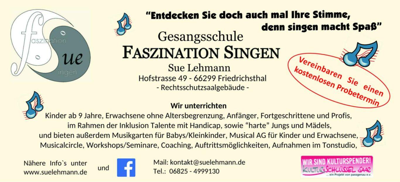 WERBUNG   Gesangsschule Faszination Singen in Bildstock