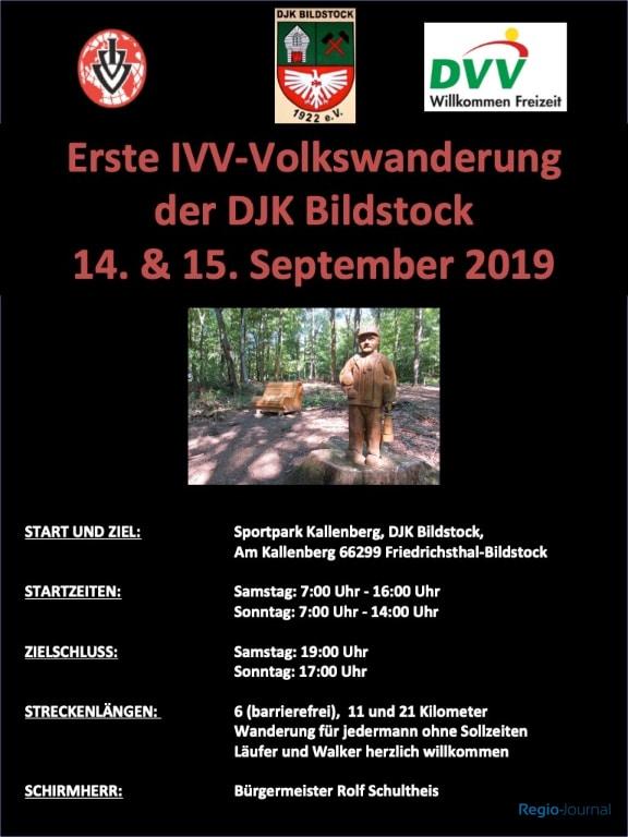 Plakat IVV Wanderung DJK BIldstock