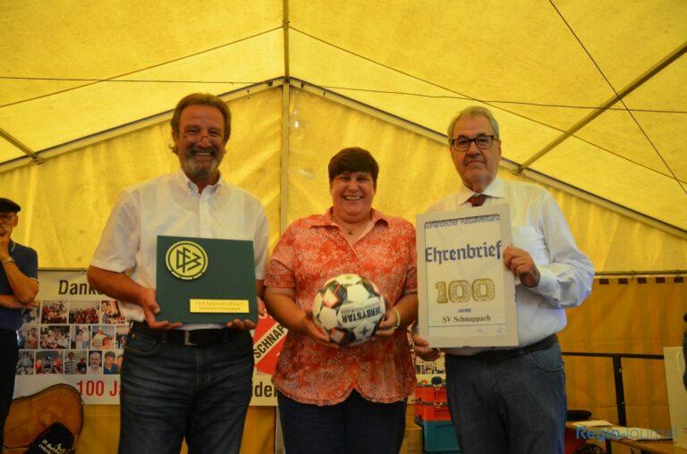 100 Jahre SV Schnappach - Ehrungen