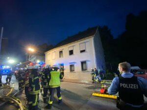 Wybuch w budynkach w Spiesen