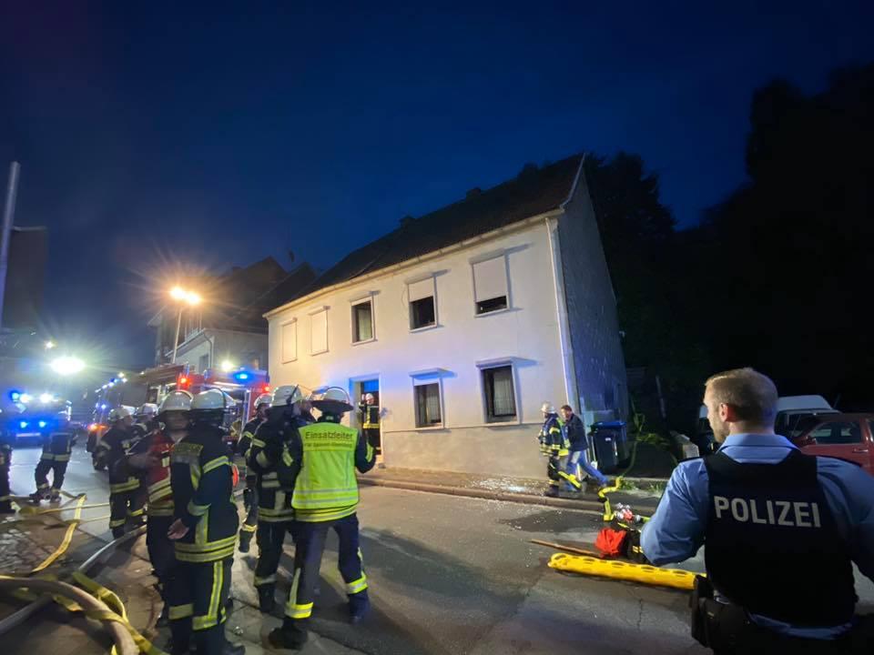 Explosion in Gebäude in Spiesen
