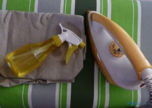 Linen ironing - ironing board, iron, spray bottle