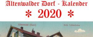 Altenwald village calendar 2020