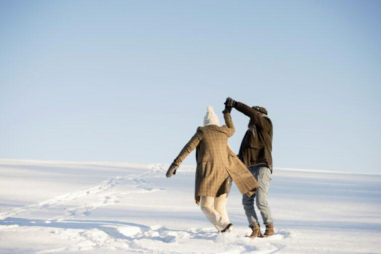 Eine Wanderung im Schnee befreit