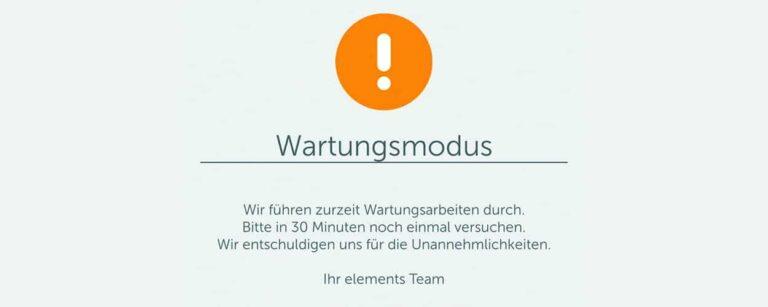 Maintenance screen / malfunction / Gigaset elements