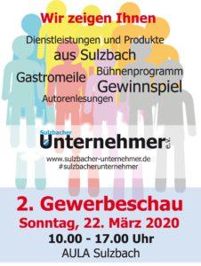 Sulzbach trade show 2020
