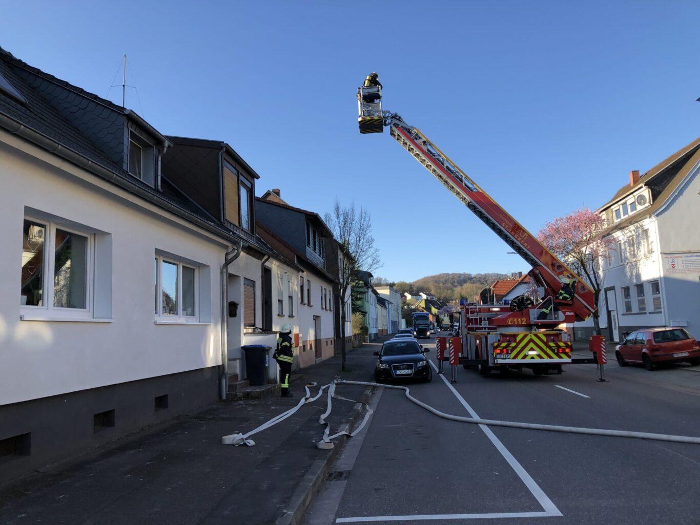 Kaminbrand Rentrisch   Bild: Alexander Prass / Feuerwehr St. Ingbert