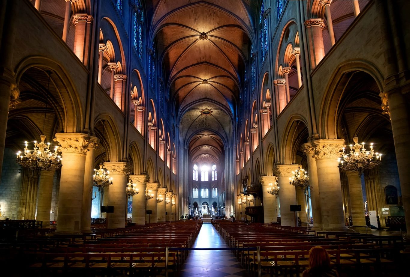 Das Innere einer Kathedrale