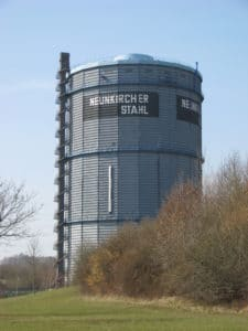 The gasometer in Neunkirchen