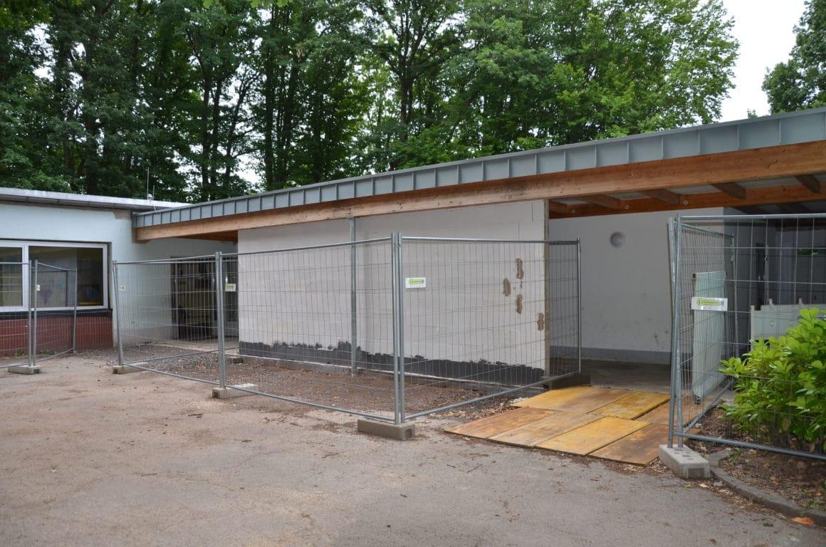 An der Waldschule wird umgebaut