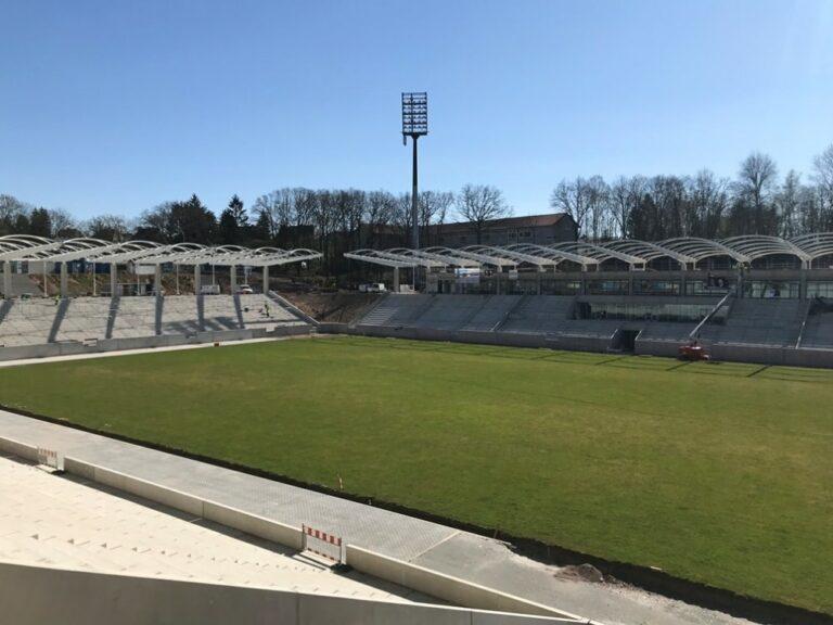 Ein Blick ins neue Stadion