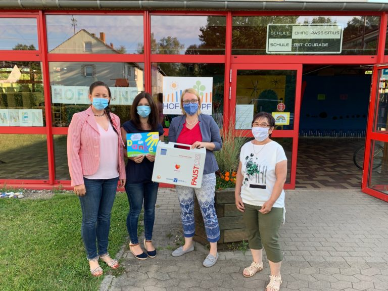 Handover from left nr: Michaela Latour, Daniela Steinmetz, Anja Wagner-Scheid, Gerlinde Plein-Erdmann | Picture: GfK Friedrichsthal