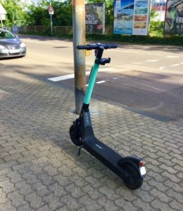 A kick scooter in Saarbrücken