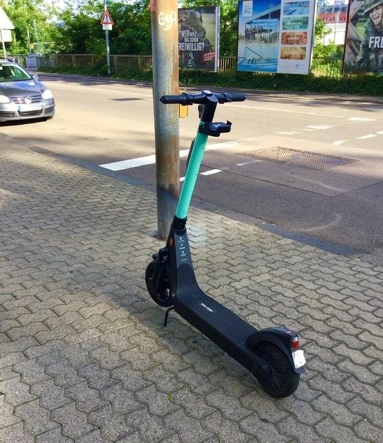 A kick scooter in Saarbrücken